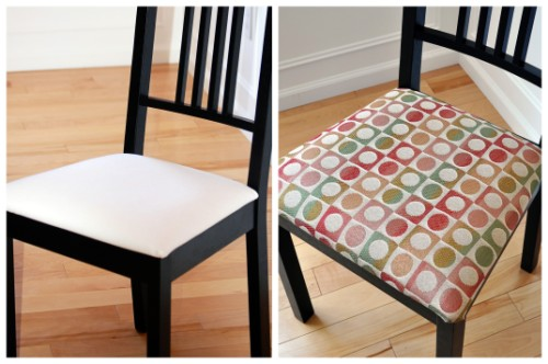 after - How To Recover Dining Room Chairs