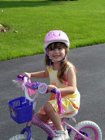 helena on her bike