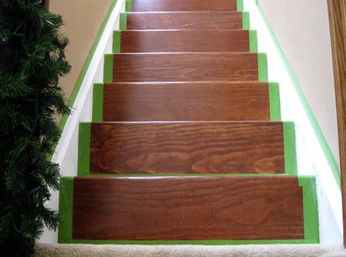 refinished_stairs14_green tape
