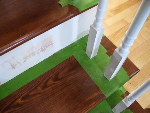 refinished_stairs15_green tape